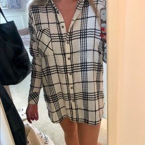 Oversized Free People flannel